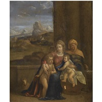 the holy family by benvenuto tisi da garofalo