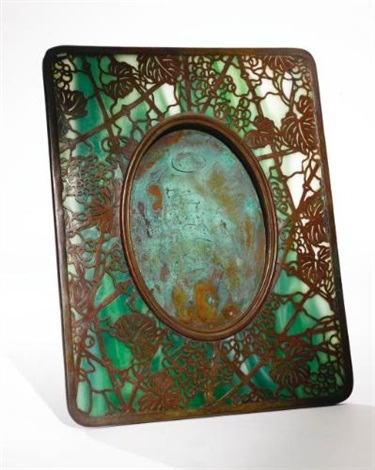 grapevine photograph frame by tiffany studios