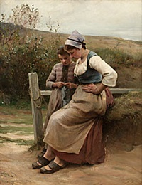 peasant girls by henri adolphe louis laurent