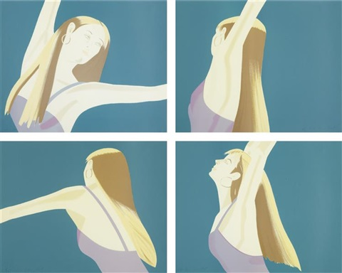 night william dunas dance 1 4pamela set of 4 by alex katz