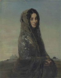 the grey shawl by william nicholson