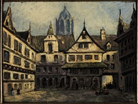 piazza di città fiamminga by pierre (henri théodore) tetar van elven