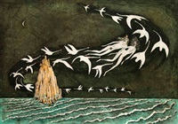 le lac des cygnes. swan lake (portfolio of 5 w/edition sheet, title pg. & cover) by lars bo