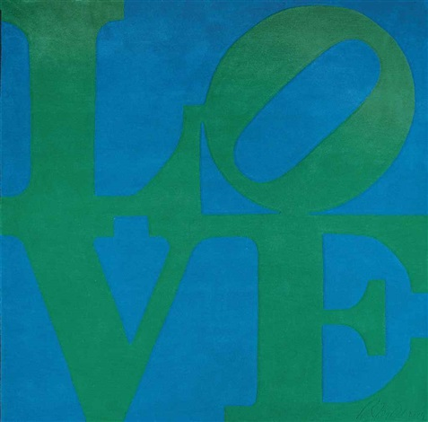 chosen love rug by robert indiana