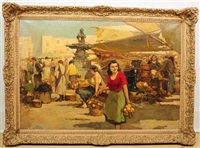 market scene by giuseppe pitto