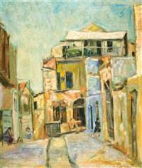 israeli street scene by zvi shor