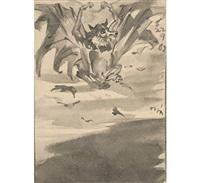 bats (2 works) by nandalal bose