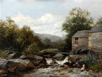 a mill on the llugwy by david bates