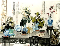 the four seasons (4 works) by liu long gang