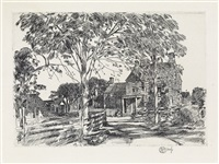 walt whitman's birth-place by childe hassam