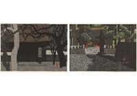 engakuji temple kamakura (set of 2) by kiyoshi saito