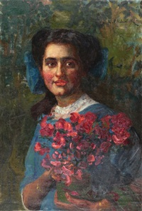 portrait of a woman by leopold pilichowski