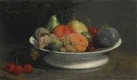 fruits dans un compotier by henri fantin-latour