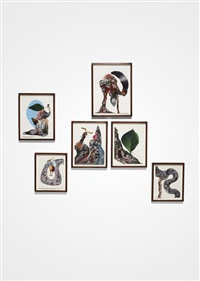 a bend in her river (set of 6) by wangechi mutu