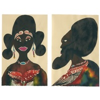 untitled (couple)(in 2 parts) by chris ofili