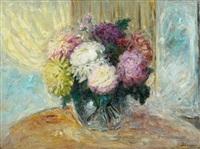 chrysanthemes dans un vase by henri lebasque