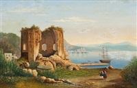 neapolitanische küstenlandschaft by auguste fresson