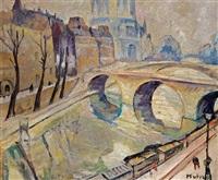 le pont st. michel, paris by maria-mela muter