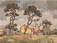volkshuis en bome, constantia, kp by gregoire johannes boonzaier