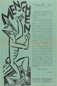 bedrücktsein im atelier. menschen (2 works) by conrad felixmüller