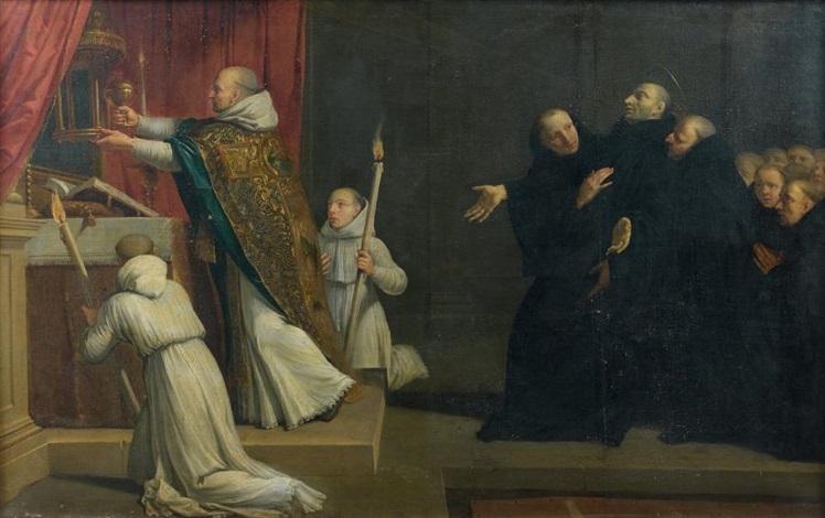 la messe ou la mort de saint benoît by philippe de champaigne