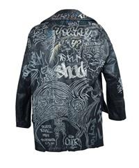 graffiti jacket by jean-michel basquiat