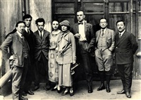 group portrait of art avantgarde of russia by anatoli semenka