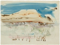 abstract landscape by richard artschwager