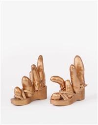 bronze shoes by yayoi kusama