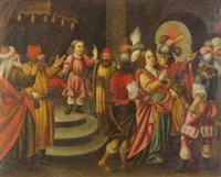 jesús entre los doctores con el martirio de sta. catalina by portuguese school (17)