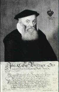 portraet af den 72 arige johan casper breittinger      1552-1641. malet 1624 by adrian ziegler