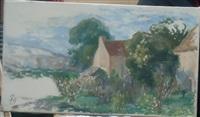 paysage de campagne, esquisse by paule gobillard