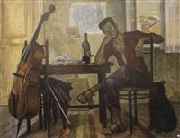 l'artiste dans l'atelier by georges simonka