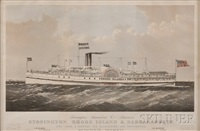 stonington steamboat co.s steamer's stonington & narragansett: new-york & boston via stonington and providence. by endicott & co. (printers)
