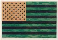 flag (moratorium) by jasper johns