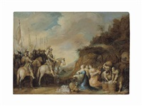 the meeting of david and abigail by frans francken the elder