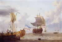 navires de haut bord sous le vent prè d'un quai by adam silo