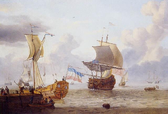 navires de haut bord sous le vent prè dun quai by adam silo