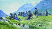 chasseurs alpins à l'exercice by bernard rambaud