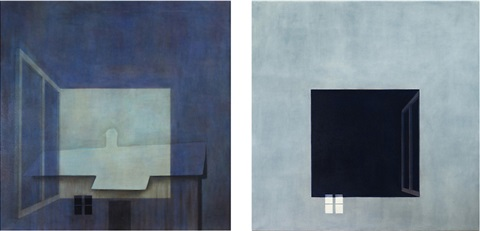 the connection holds on with two eyes one picture diptych by susanne gottberg