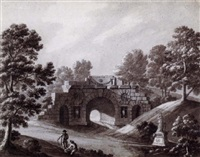 design for a classical bridge by robert adam