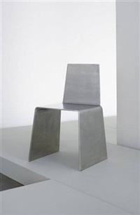 prototype steel furniture chair by scott burton