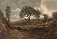 pastoral landscape by henry campotosto