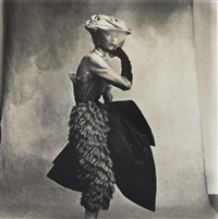 cocoa dress, lisa fonssagrives-penn (balenciaga) by irving penn