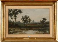 paysage à l'étang by guillaume vogels