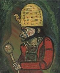 pharoah (hommage a roualt) by jack bilbo