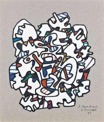 timbre à la théière 21 novembre by jean dubuffet