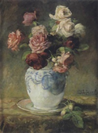 rosen in vase by gustav august hessl