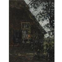 a farmhouse in summer by jan adam zandleven