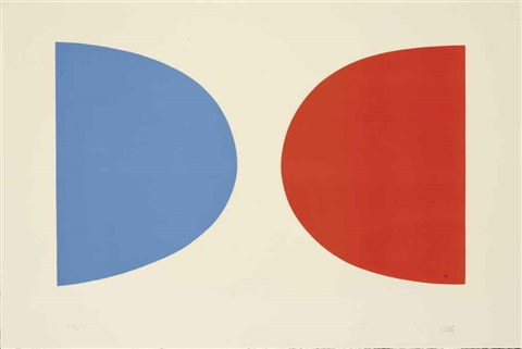 blue and orange by ellsworth kelly